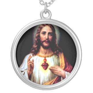 Jesus, unser Retter Versilberte Kette