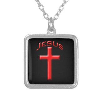 Jesus Versilberte Kette