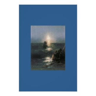 Jesus-Wasser-Boots-Bibel-inspirierend Glaube Perfektes Poster