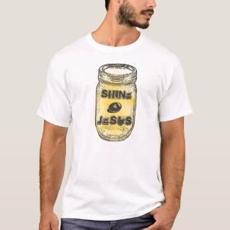 Jesus-Weckglas des Glanz-4 T-Shirt