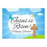 Jesus wird, christliches Ostern gestiegen Einladung