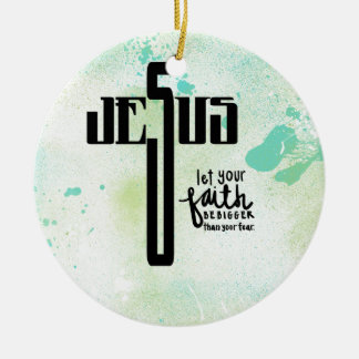 Jesus-Wort-Kunst Rundes Keramik Ornament