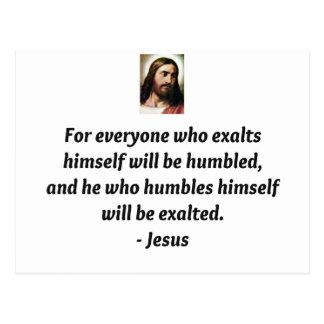 Jesus-Zitate Postkarte
