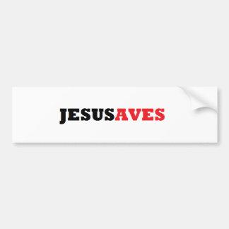 JESUSAVES AUTOAUFKLEBER