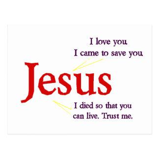 Jesuspostkarte Postkarte