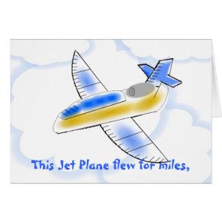 Jet-Flugzeug-Geburtstags-Karte Karte
