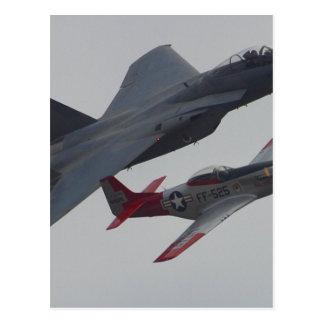 Jet-Flugzeug-Pilotcockpit-Propeller Postkarte