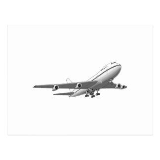 Jet-Flugzeug Postkarte