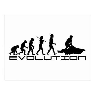 Jet-Ski-Skifahren-Wasser-Sport-Evolutions-Kunst Postkarte