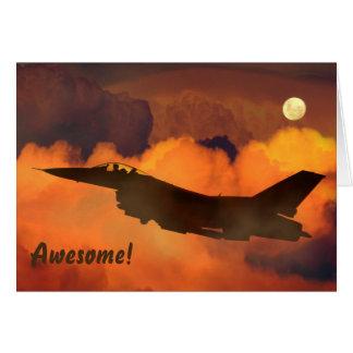 Jet--und Vollmond-Service danken Ihnen Karte