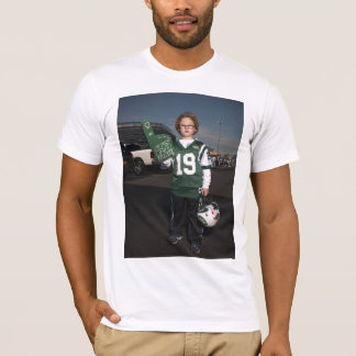 Jets gegen Patriot-Heckklappen-Party T-Shirt