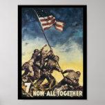 Jetzt alle zusammen Weltkrieg 2 Plakat