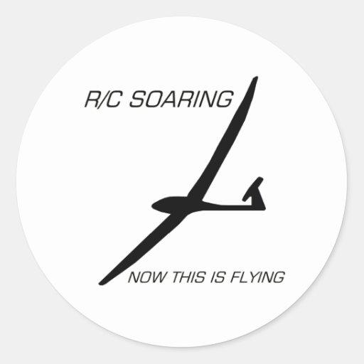 JETZT FLIEGT DIESES… schwarzes Segelflugzeug Aufkleber