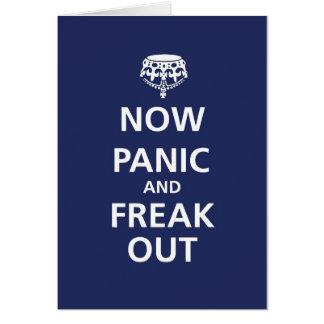 Jetzt Panik und flippen heraus aus Karte