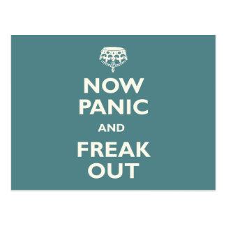 Jetzt Panik und flippen heraus aus Postkarte
