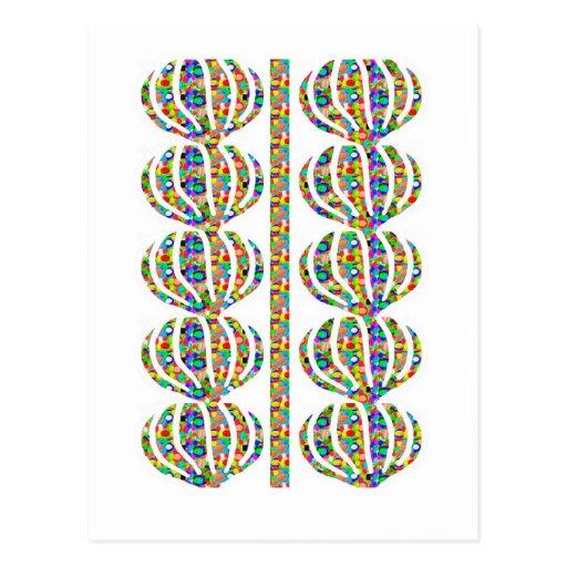 Jewel Ausschnitt-Dekorationen auf GESCHENK-Kunst Postkarten