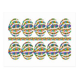 Jewel Ausschnitt-Dekorationen auf GESCHENK-Kunst Postkarte
