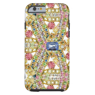 Jeweled abstrakter Entwurf Tough iPhone 6 Hülle