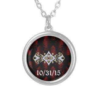 Jeweled Klipp-Damast-Vampir Goth Hochzeit Amulett
