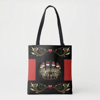 Jeweled Leuchter-rote Herzen und Tasche
