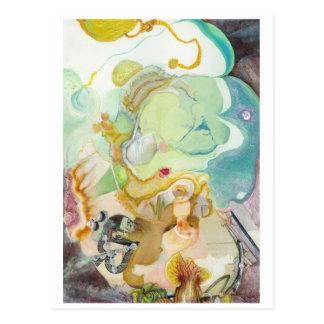 Jeweled Meditations-Postkarte Postkarte