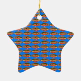 JewelfishPattern im Seeblau Keramik Ornament