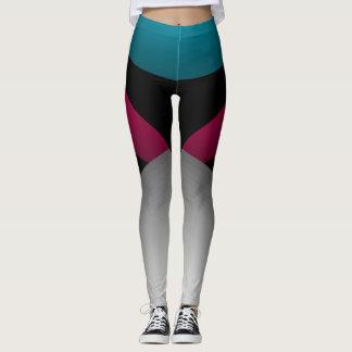 Jeweltones Farbsportliches Chic, das Sport-Tanz Leggings
