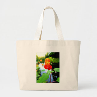Jewelweed-Blumen-Nahaufnahme Jumbo Stoffbeutel