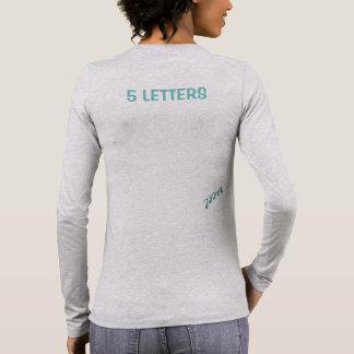 JFIA 5 Buchstabe-Frauen-starke Shirts u. Spitzen