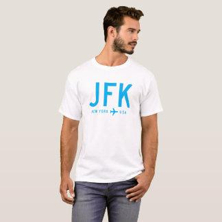 JFK cyan-blau T-Shirt