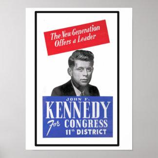 JFK für Kongreß Poster