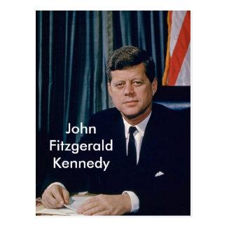 JFK offizielles Porträt vom public domain Postkarte