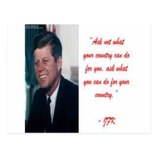 JFK u. fragen nicht Zitat Postkarte