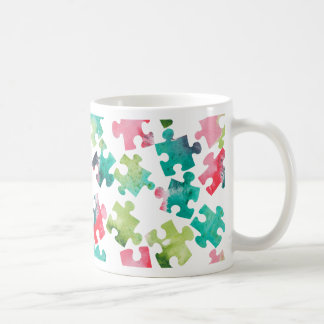 Jigsaw Puzzel Watercolour Pattern Kaffeetasse