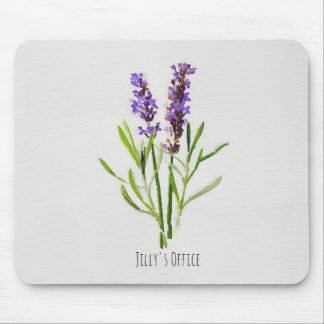 Jillys botanisches Lavendel-Aquarell Mousepad