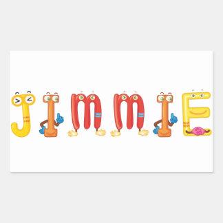 Jimmy-Aufkleber Rechteckiger Aufkleber