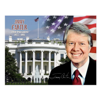Jimmy Carter - 39. Präsident der US Postkarte