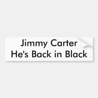 Jimmy Carter ist er zurück im Schwarzen Autoaufkleber