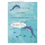 Jimmy die Delphin-Geburtstags-Karte