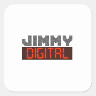 Jimmy Digital Quadratischer Aufkleber