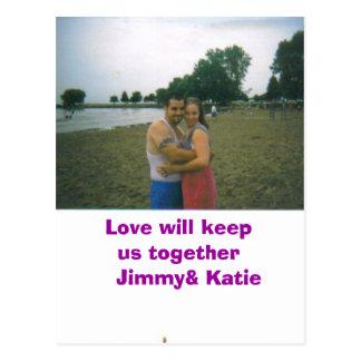 Jimmy, Liebe behält uns zusammen   Jimmy& Katie Postkarte