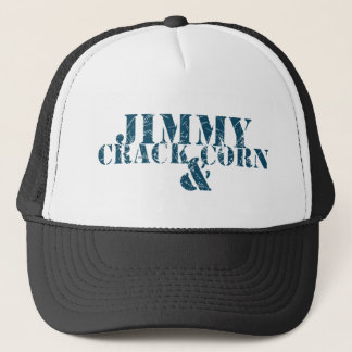 Jimmy-Sprungs-Mais und Truckerkappe