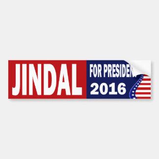 Jindal für Präsidenten 2016 Autoaufkleber