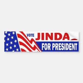 Jindal für Präsidenten Autoaufkleber