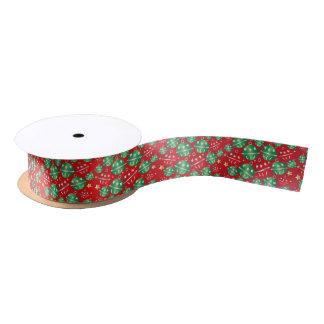 Jingle Bell-Weihnachtsverzierungen Satinband
