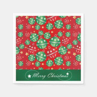 Jingle Bell-Weihnachtsverzierungs-Entwurfs-Muster Serviette