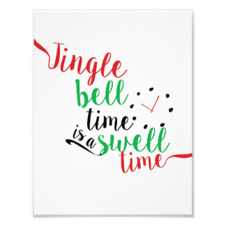 Jingle Bell-Zeit beträgt eine Schwellen-Zeit Fotodruck