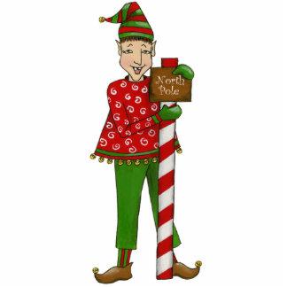 "Jingle Elf-""Horaz"" 12x18 3D Skulptur Freistehende Fotoskulptur"