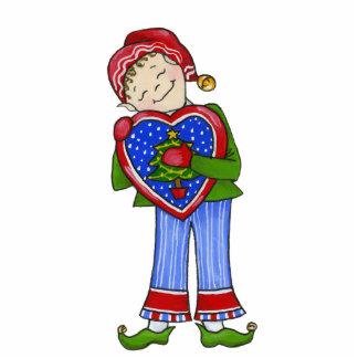 """Jingle Elfe, """"LoveyDovey"""" 12x18 Verzierung Fotoskulptur Ornament"""
