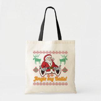 Jingle meine hässliche Weihnachtsstrickjacke Tragetasche